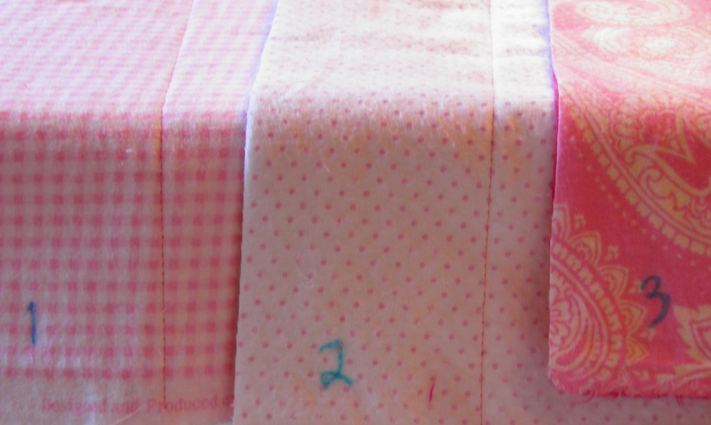 Pink and Green Rag Quilt Toddler Crib Bed spread